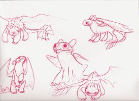 Toothless sketches by Mioumioune