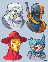 Bat Villains in Color 6 by D-MAC