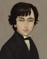 Portrait of sherlock by cosom