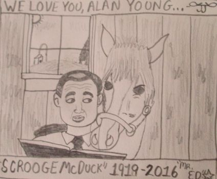Alan Young Tribute Sketch by Joob-Jaibot