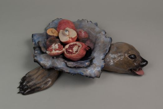 Seal Dish with Fruit by pink-porcupine