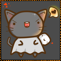 Halloween Kitty by PickleddEgg