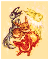 Eevee-lutions sketch D: by 1B6