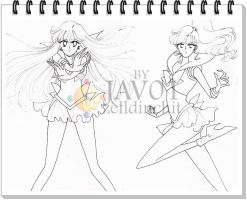 sailor moon - next draws -sketches by zelldinchit