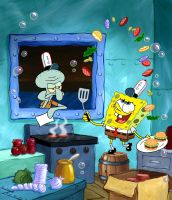 SpongeBob Flippin Patties by shermcohen