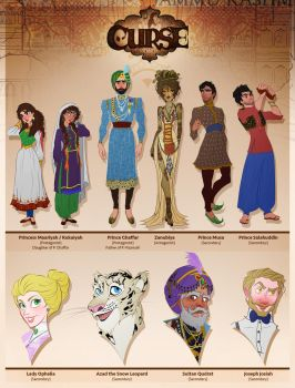 Arsalan Khan's Curse - Characters by ArsalanKhanArtist