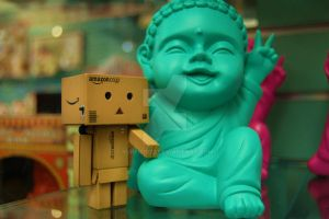 Danbo and Buddha ....... by Yuffie1972