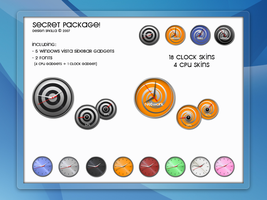 Secret Pack Sidebar Clock Cpu by SFkilla