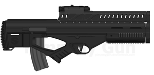 XM2022 'Blockade' Prototype Bullpup Rifle by TastyJuice