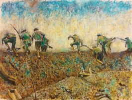 Scene from the Battle of the Somme by TJKruse