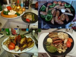 Kielbasa and Vegetables by Trance-Plant