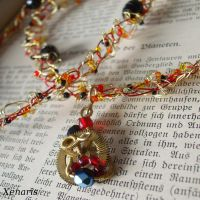 Steampunk crocheted wire-necklace by Xenaris
