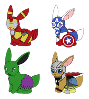 The Avengers Bunnies by Hamera