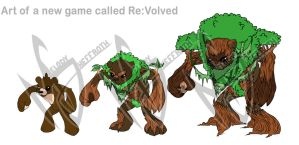 Re:Volved Forest Bear Evolution by DranixParemoon
