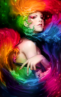 Color Smudge Girl by DannDesigner