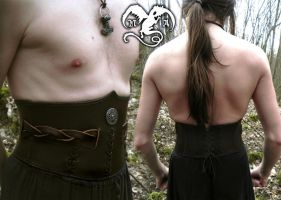 Barbarian waist cincher for male by Noir-Azur
