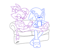 Sonaze Doodle - On The Couch by Sonicguru