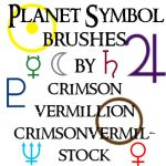Planet Symbol Brushes by crimsonvermil-stock