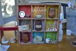 Colorful Display Shelf by TheMiniatureBazaar