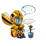 Bee and Groot by MidnightsBloom