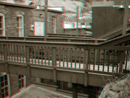 Disturbed Ghost Town Anaglyph by Temphis