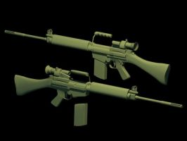 L1A1 SLR WIP 4 by ExtraNoise