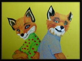 Mr. and Mrs. Fox by Vulkanette