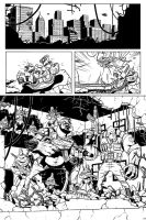 TMNT: The Invisible Machine Chapter Two - Page One by gadgetwk