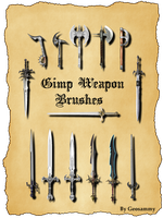 Gimp Weapons Brushes by Geosammy