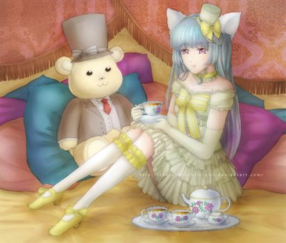 Pudding's Tea Time by the-chocoholic-girl