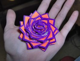 Purple + orange duct tape rose by shadowsport313