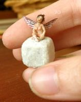 miniature fairy Sculpture by aleahklay