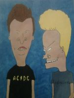 Beavis and Butthead by Alexchainsaw