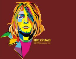 kurt cobain in WPAP by p32n