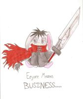 Eeyore Means Business :Gift: by HirokoTheHedgehog