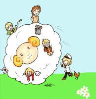 APH: Katamari Sheep by tenshiamanda