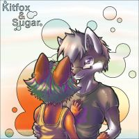 Kitfox  and Sugar together by sugar-cat-candy
