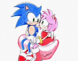 Sonic and Amy by WolfMoon17