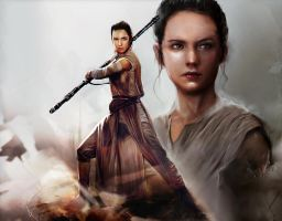 Rey_Star Wars The Force Awakens by SiriCC