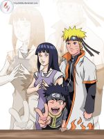 Naruto's family by Aldely
