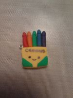 Polymer Clay Crayon Box Charm by PiinkKittyy
