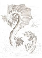 Clash of the Serpents by LeonopteryxDragon