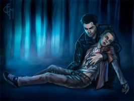 Teen Wolf - sterek - forest by Eneada