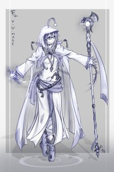 Practice 45 (V the white mage) by FranLoL