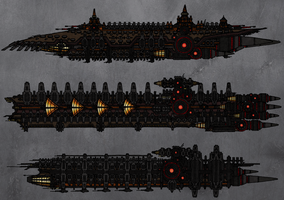 Tenebrean War fleet by TenebraesRising