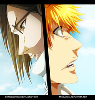 Bleach 586 - Ishida and Ichigo Colab by DesignerRenan