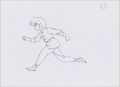 Ranma running animation Gif by ErickMaster102