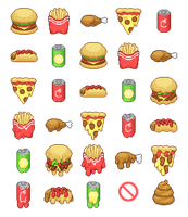 Pixel - Bad Consumption - Fast Food by firstfear