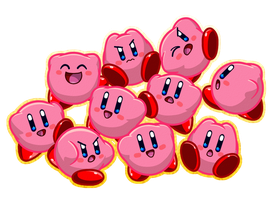 Kirby divided by 10 times 10 by CatchShiro