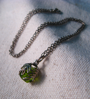 Green Leaf Necklace by mrskupe